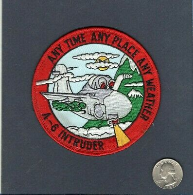 US NAVY A-6 INTRUDER 2000 HOURS USN EMBROIDERED PATCH