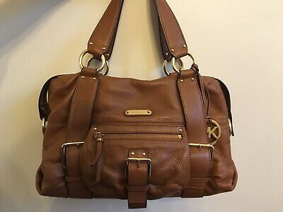 e69ce8272b590f NEW MICHAEL KORS Walnut Embossed Leather Hamilton MD NS Messenger ...
