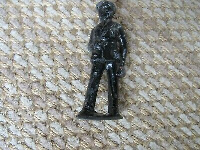 Antique Vintage cast iron Train Porter Officer Figurine