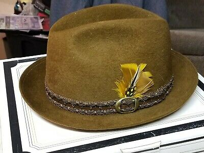 431b6ee29ed42 Vintage Royal Stetson Brown Furry Fedora - Size 7 1 8 - Mint Condition