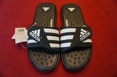d16fc59375f9 Adidas Mens Slide Sandals Size 11 Black Adissage Cloudfoam Black white