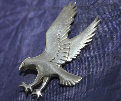 VINTAGE STERLING SILVER EAGLE BROOCH by OLA M GORIE~SCOTLAND