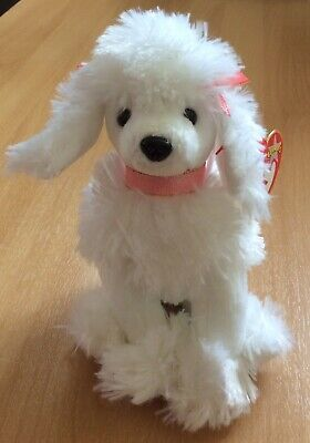 4c7ced21cd7 Ty Beanie Babies L amore The White Poodle Mint With Tags - Rare With Errors