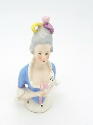 Art Deco Period Vintage Ceramic Half Doll Court Lady German