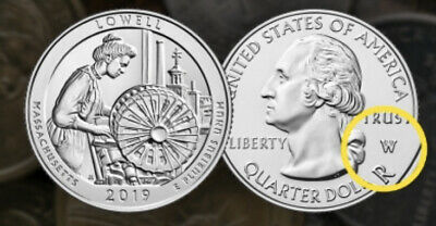 2019-W West Point Mint Quarter-Uncirculated-Great American Coin Hunt Collection!