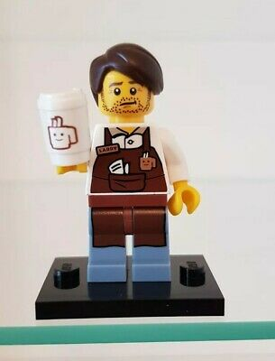 genuine lego minifigures the larry the barista from the lego movie