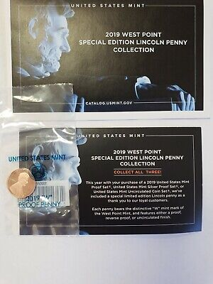 2019 W Lincoln Cent Penny Proof Coin  FIRST EVER West Point Minted Lincoln Penny