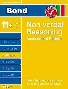 Bond Non-verbal Reasoning Assessment Papers 9-10 Year... | Book | condition good