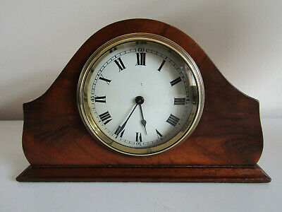 Antique Mahogany Cased Mantle Clock Swiss Movement Not Working Spares Repair