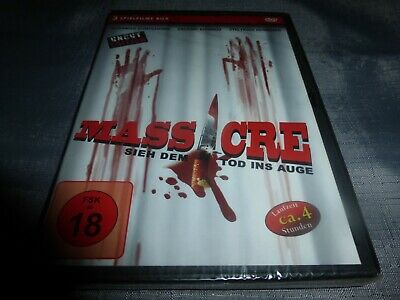 Massacre -Sieh dem Tod ins Auge [3 Filme Box] Horror Thriller Uncut DVD RAR