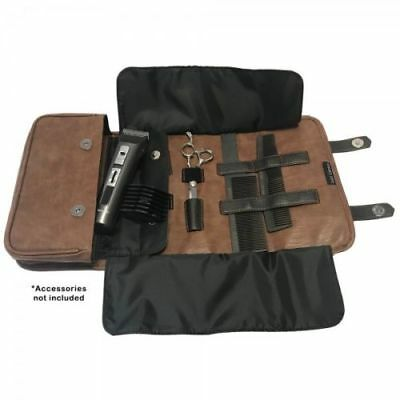 Head Jog BARBER Tool Roll - Leather Effect - BROWN