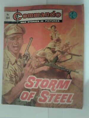 COMMANDO WAR COMIC NUMBER NO 504 STORM OF STEEL good vintage condition, used,