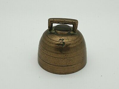 Antique Old Brass Door, Cow or Hand Bell, No 3 Charming Sound