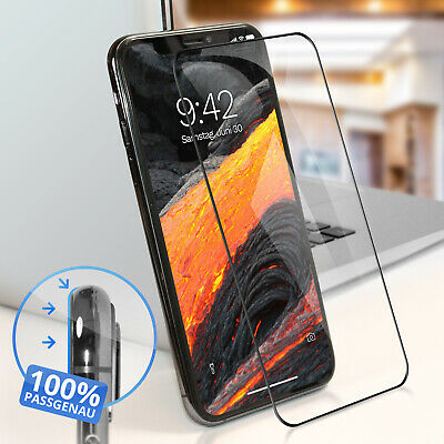 2x 6D Panzerglas iPhone XR Full Screen Display Schutz Panzer Folie 9H Echt Glas