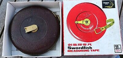 Swordfish 30m Measuring Tape Cloth With Copper Wire Leather Case Boxed