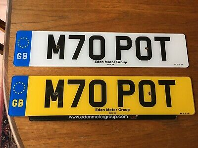 Car Personal Number Plate - M70 POT