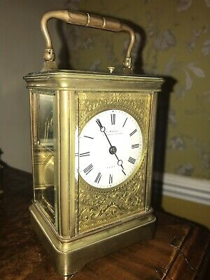 STUNNING DROCOURT REPEATER CARRIAGE CLOCK By T.Martin Regent Street London