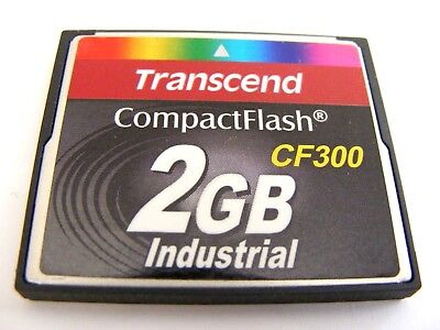 2 GB Compact Flash Karte Industrial ( 2GB CF Card ) TRANSCEND gebraucht