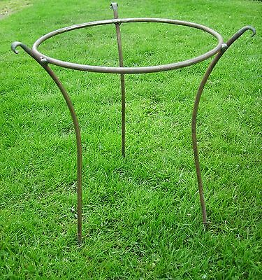 "Handmade Heavy Duty Iron Herbaceous/Peony Plant Garden Support in 5/16"" Bar"