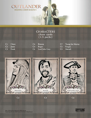 Outlander Season 3 Gold Crest Characters Chase Card C6 Lord John Grey