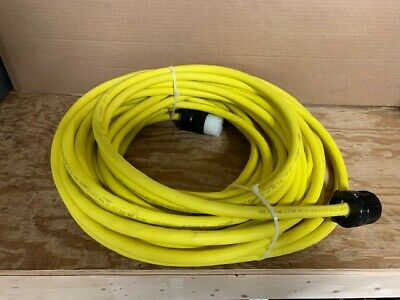 100 ft. 10/3 Yellow Non Marking Cord for 220V Floor Sanders  - 30A 250V Plugs