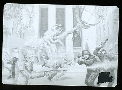 2013 Topps Mars Attacks Invasion Printing Plate #2 - Manhattan Meltdown