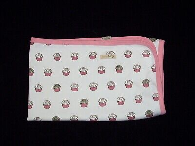 L'ovedbaby Pink Cupcake Baby Blanket Loved Cotton Security Lovey