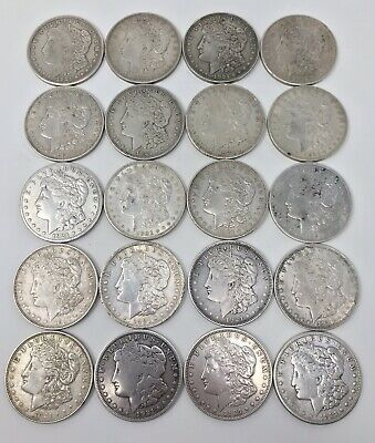 Lot of (20)-1921 Morgan Silver Dollar(s), $1, FREE SHIPPING! NR!, .99 AUCTION!