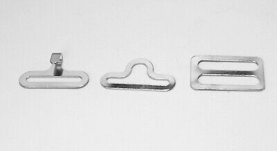 100 sets SILVER metal BOW TIE hardware 3 pc per, eye + hook + slide 300 pc total