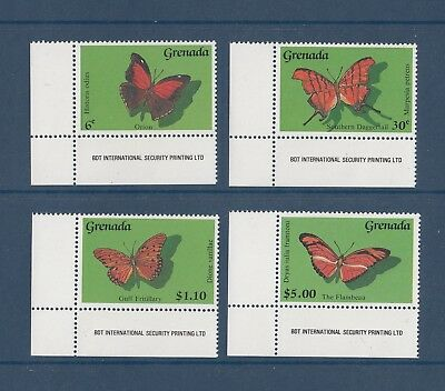 Timbre Stamp 4 Grenade Y&T#1819-22 Papillon Butterfly Neuf**/Mnh-Mint 1989 ~C57