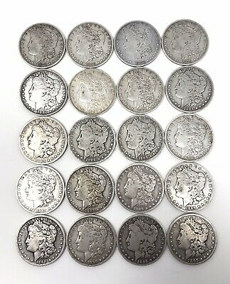 Lot Of (20) Morgan Silver Dollar(s) Pre-1921 (1879-1897) $1 Free S/H NR!