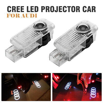 2x Car Door Light Puddle Courtesy LOGO Entry Light Fit Audi Cree LED Projector