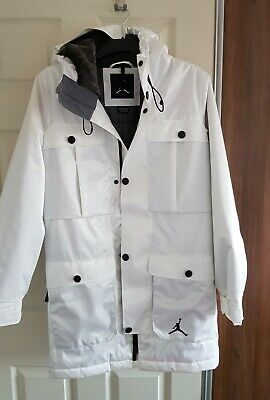 0acee1362f47 Men s NIKE AIR JORDAN Ultimate Aeroloft Winter Coat Jacket White Size XS