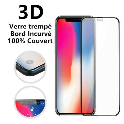 VITRE PROTECTION VERRE TREMPÉ INTEGRAL FILM ÉCRAN iPhone XR X XS MAX 8 7 6S Plus