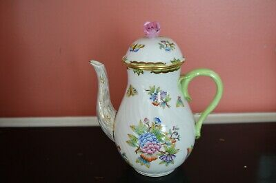 Herend Porcelain Queen Victoria Coffee Pot 612/vbo Mother's Day