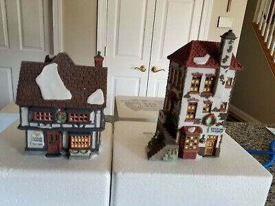 DEPT. 56 Heritage Village Dickens TUTBURY  PRINTER & C. H. WATT PHYSICIAN #55689