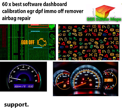 70 x best software dashboard calibration egr dpf immo off remover airbag repair.