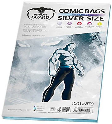 Comic Bags Resealable Silver Size, Pack of 100