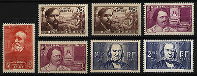 France 1939-40 , aid for unemployed intellectuals , Sc B86-B89A , Mint Hinged