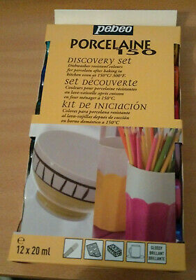 Pebeo Porcelain 150 Discovery Set Glossy Paint 12X20 ml for Porcelain