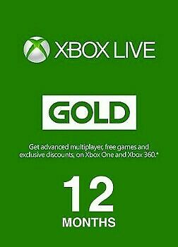 Xbox Live GOLD Subscription Card XBOX LIVE GLOBAL 12 Months ( Quick Delivery )
