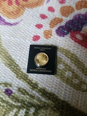 2019 Canada GOLD 1 gram 50 cents MAPLE LEAF COIN .9999