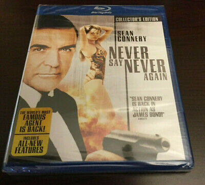 Brand New and Sealed Never Say Never Again (Collector's Edition) [Blu-ray] RARE!