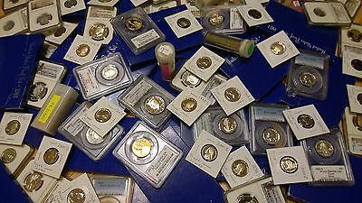 **US PROOF COINS ONLY Lot: Silver, PCGS / NGC, PRE-65, Deep Cameo DCAM, Gem PF**
