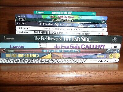 FAR SIDE LOT 9~Gary Larson~DUMMIES~OBSERVER~HOUND~PLANET
