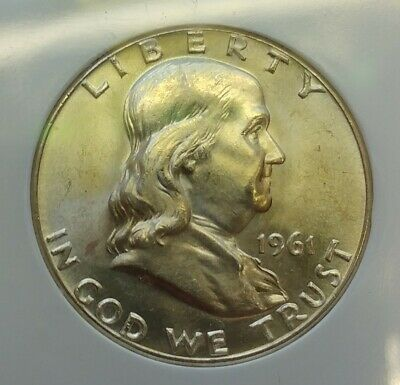 1961-P Brilliant Uncirculated Franklin 90% Silver Half Dollar Look At Pictures