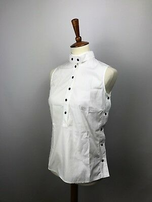 92b58dfb39301 GUCCI Women s Sleeveless Top Blouse Shirt Size 42 S M Luxury Authentic