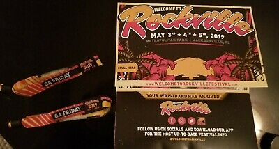 2019 Welcome to Rockville Tickets - Two (2) Friday GA Wristbands -5/3- Korn