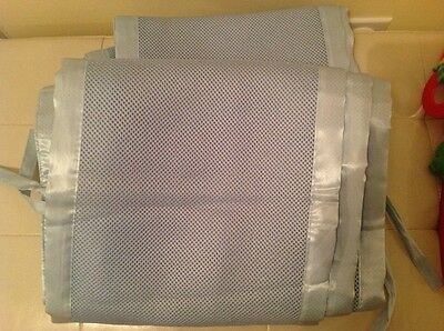 Blue  Baby Breathable Mesh Crib Liner Bumper