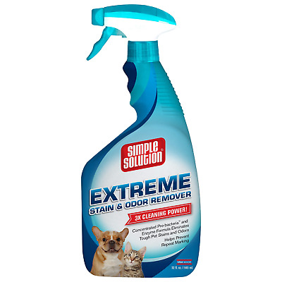 Simple Solution Extreme Pet Stain and Odor Remover | Enzymatic Cleaner with 3X